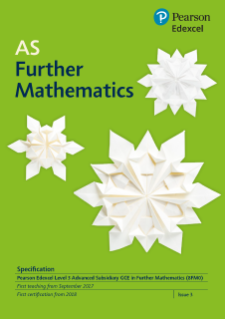 AS Further Mathematics specification