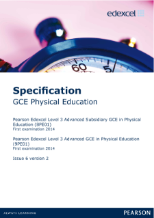 Edexcel A level Physical Education specification