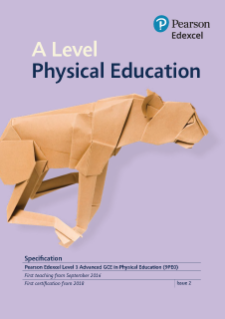 A level Physical Education specification