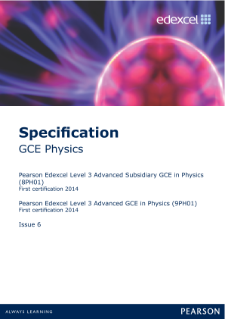 Edexcel A level Physics specification