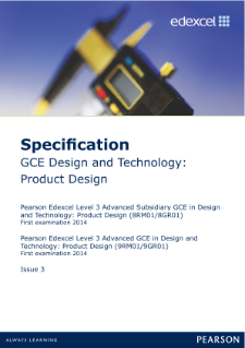 AQA GCSE Product Design Folder checklist