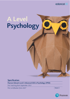 A level Psychology 2015 specification
