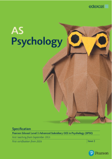 AS level Psychology 2015 specification