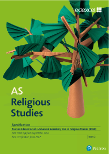 AS Religious Studies Specification Issue 2
