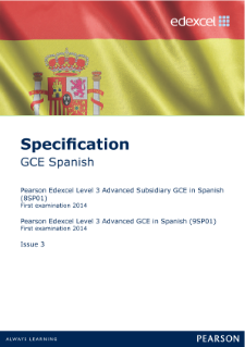 Edexcel A level Spanish specification