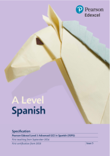 Specification - A level (Spanish)