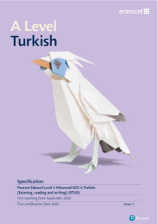 A level Turkish specification