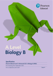 A level Biology B 2015 specification
