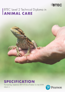 BTEC Level 2 Technicals Animal Care: specification