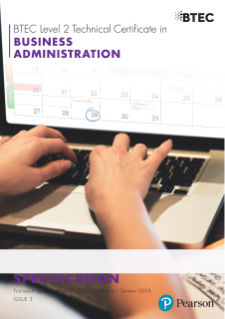 Specification - BTEC Technical Certificate in Business Administration