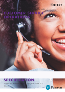 BTEC Level 2 Technical Certificate in Customer Service Operations specification