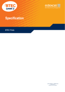 BTEC Firsts in Applied Science specification