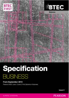 BTEC First Diploma in Business specification