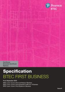 BTEC First Certificate in Business specification