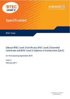 BTEC Firsts in Construction specification