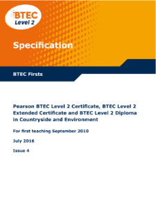 BTEC Firsts in Countryside and Environment specification