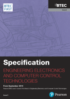 Specification - BTEC First Award in Engineering Electronics and Computer Control Technologies