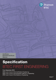 BTEC First Certificate in Engineering specification