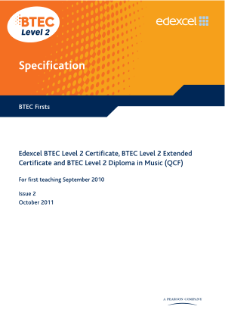 BTEC Firsts in Music specification