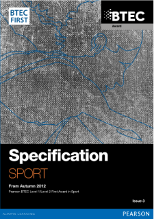 BTEC First Award in Sport specification
