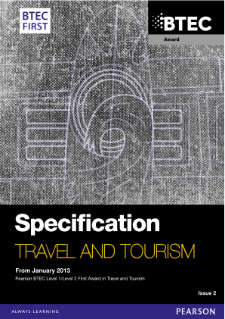 BTEC First Award in Travel and Tourism specification