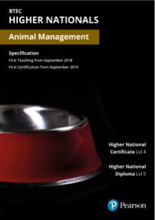 BTEC Higher Nationals in Animal Management Specification