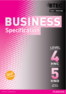 BTEC Higher National Diplomas in Business specification