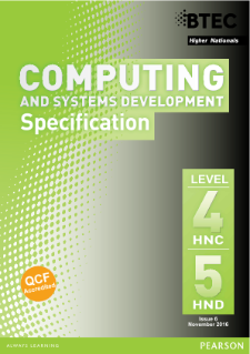 BTEC Higher National Diplomas in Computing and Systems Development specification