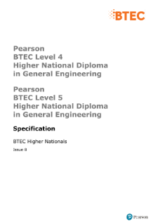 BTEC Higher National Diplomas in General Engineering specification