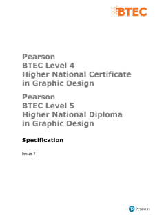 BTEC Higher National Diplomas in Graphic Design specification
