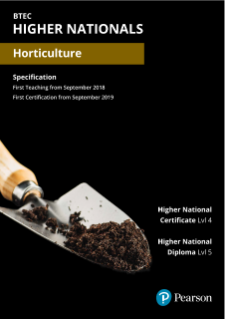 BTEC Higher Nationals in Horticulture Specification