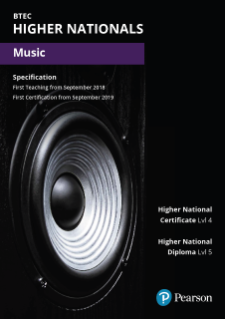BTEC Higher Nationals Music specification
