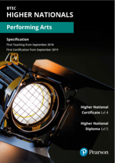 BTEC Higher National qualifications in Performing Arts