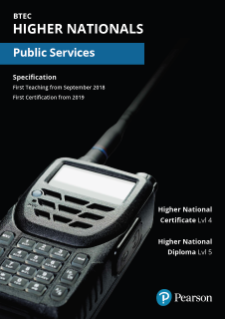 Pearson BTEC Higher National qualifications in Public Services