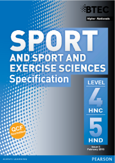 BTEC Higher National Diplomas in Sport and Exercise Sciences specification
