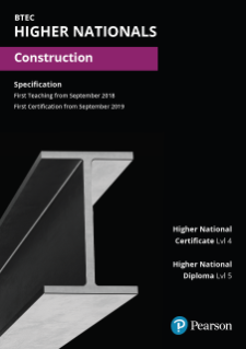 Pearson BTEC Level 4 Higher National in Construction specification