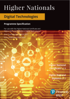 Pearson BTEC Higher National qualifications in Digital Technologies