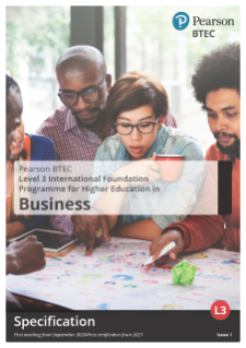 International Foundation Programme in Business (2020) specification
