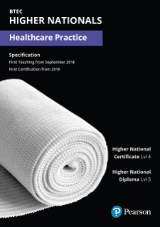 Specification for BTEC Higher Nationals in Healthcare Practice