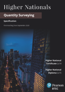 BTEC HN Quantity Surveying