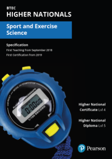 Specification for Sport and exercise science
