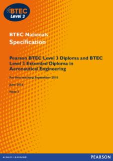 BTEC Level 3 Aeronautical Engineering specification