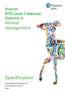 Specification - Pearson BTEC Level 3 National Diploma in Animal Management