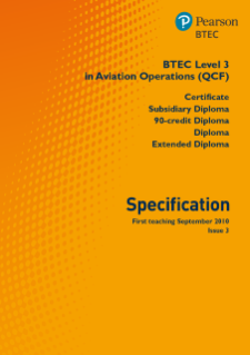 BTEC Level 3 Aviation Operations specification