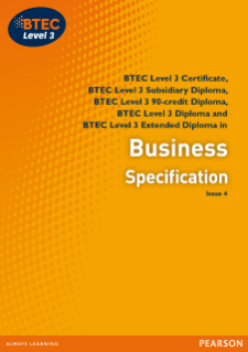 BTEC Level 3 Business specification