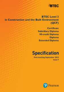 BTEC Level 3 Construction and the Built Environment specification