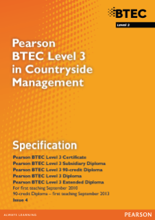 BTEC Level 3 Countryside Management specification