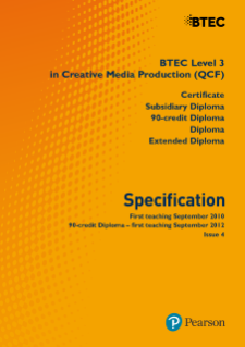 BTEC Level 3 Creative Media Production specification