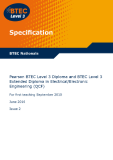 BTEC Higher National Diploma (HND) in Electrical / Electronic Engineering