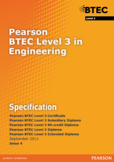 BTEC Level 3 Engineering specification